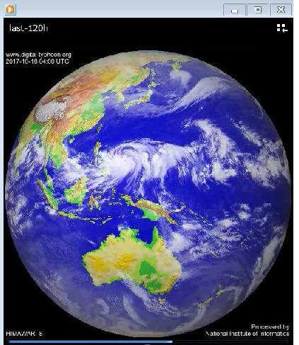 直近5日間(120時間)の気象衛星の映像